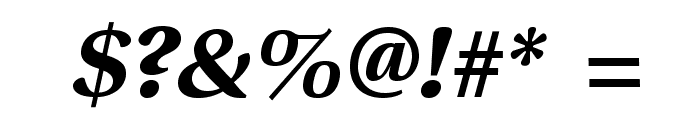VenturisSansADFEx-BoldItalic Font OTHER CHARS