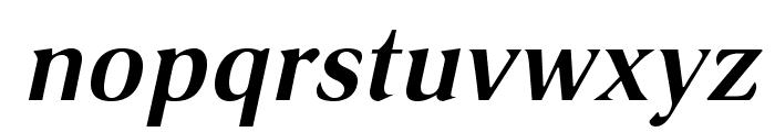 VenturisSansADFLt-BoldItalic Font LOWERCASE