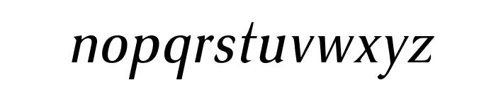 VenturisSansADFNo2Cd-Italic Font LOWERCASE
