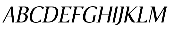 VenturisSansADFNo2Ex-Italic Font UPPERCASE