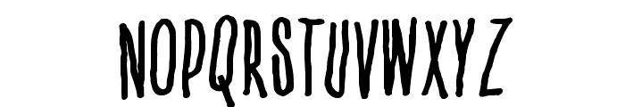 Venus flytrap  & the bug Font UPPERCASE