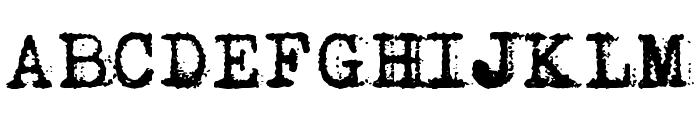 Vera Type Font UPPERCASE