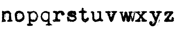 Vera Type Font LOWERCASE