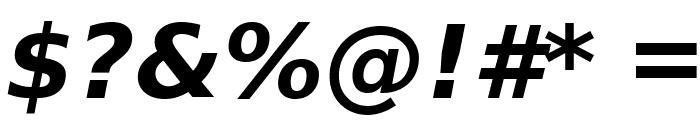Verajja Bold Italic Font OTHER CHARS