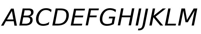 Verajja Italic Font UPPERCASE