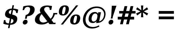 Verajja Serif Bold Italic Font OTHER CHARS