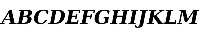 Verajja Serif Bold Italic Font UPPERCASE