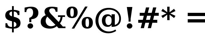 Verajja Serif Bold Font OTHER CHARS