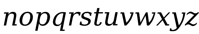 Verajja Serif Italic Font LOWERCASE
