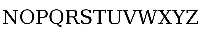 Verajja Serif Font UPPERCASE