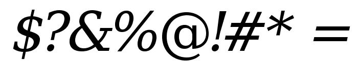 Verana-Italic Font OTHER CHARS
