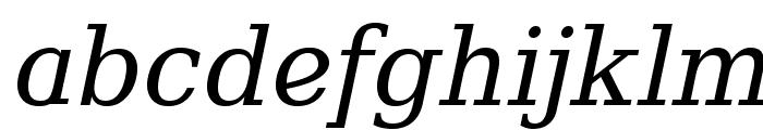 Verana-Italic Font LOWERCASE