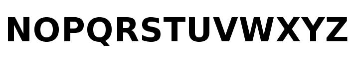 VeranaSans-Bold Font UPPERCASE