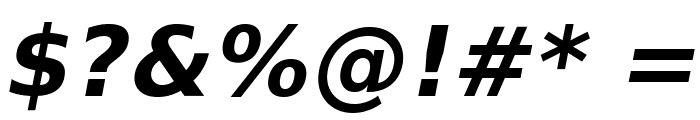 VeranaSans-BoldOblique Font OTHER CHARS