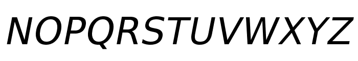 VeranaSans-Oblique Font UPPERCASE