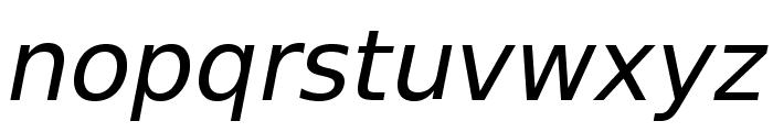VeranaSans-Oblique Font LOWERCASE