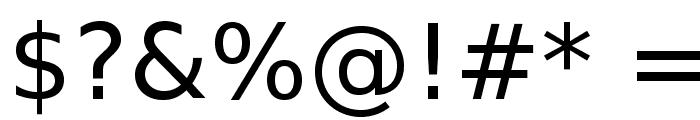VeranaSans-Regular Font OTHER CHARS