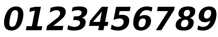 VeranaSansDemi-Oblique Font OTHER CHARS