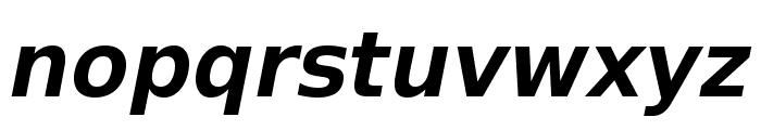 VeranaSansDemi-Oblique Font LOWERCASE