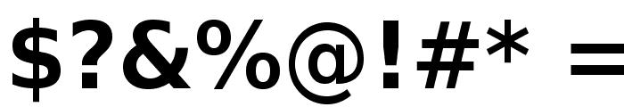 VeranaSansDemi-Regular Font OTHER CHARS