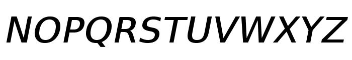VeranaSansMedium-Oblique Font UPPERCASE