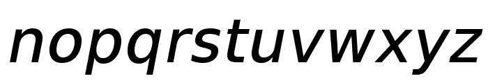 VeranaSansMedium-Oblique Font LOWERCASE