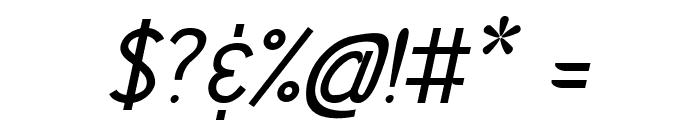 Vercing?torix Regular Italic Font OTHER CHARS