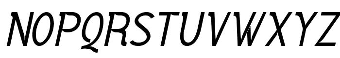 Vercing?torix Regular Italic Font UPPERCASE