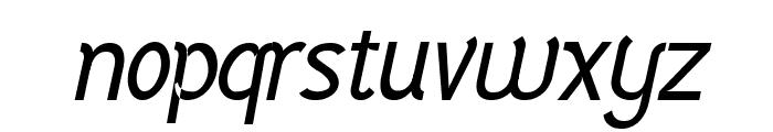 Vercing?torix Regular Italic Font LOWERCASE