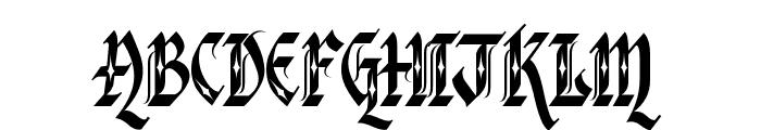 Verona Gothic Flourishe Font UPPERCASE