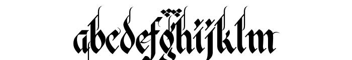 Verona Gothic Flourishe Font LOWERCASE