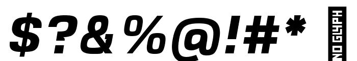 VersaBlock Bold Oblique Font OTHER CHARS