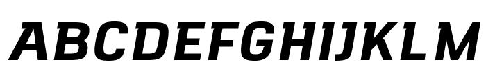 VersaBlock Bold Oblique Font UPPERCASE