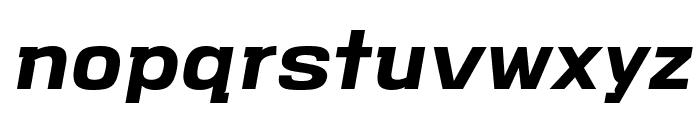VersaBlock Bold Oblique Font LOWERCASE