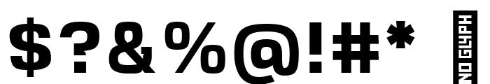 VersaBlock Bold Font OTHER CHARS