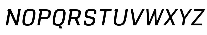 VersaBlock Book Oblique Font UPPERCASE