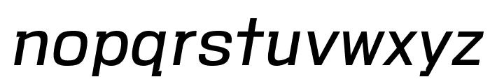 VersaBlock Book Oblique Font LOWERCASE