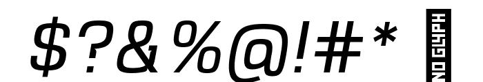 VersaBlock Light Oblique Font OTHER CHARS