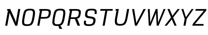 VersaBlock Light Oblique Font UPPERCASE