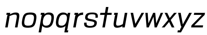 VersaBlock Light Oblique Font LOWERCASE