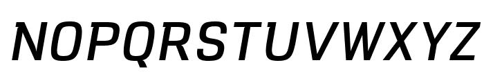 VersaBlock Regular Oblique Font UPPERCASE