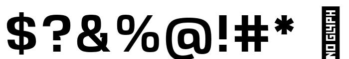 VersaBlock Semibold Font OTHER CHARS