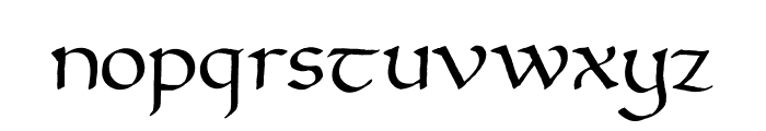 Versal Filled Font LOWERCASE