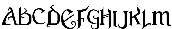 Versal Gothic Font UPPERCASE
