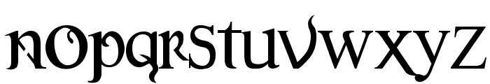 Versal Gothic Font LOWERCASE