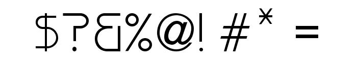 Versaniah_Thin Font OTHER CHARS