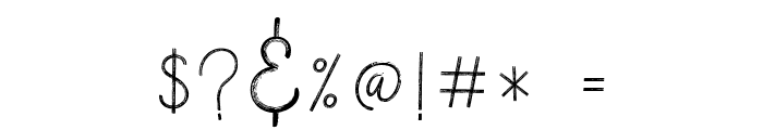 VerticalBrushyFree Font OTHER CHARS