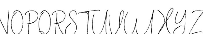 VerticalBrushyFree Font UPPERCASE
