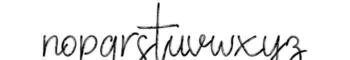 VerticalBrushyFree Font LOWERCASE