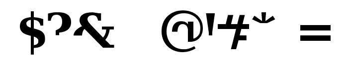 Veru Serif Font OTHER CHARS
